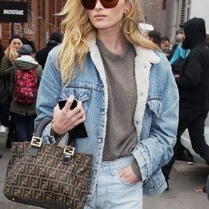 Fur Lined Denim Jacket - Blue Jean Jacket